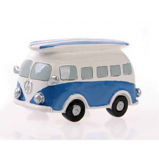 Image of Spaarpot blauwe Volkswagen bus