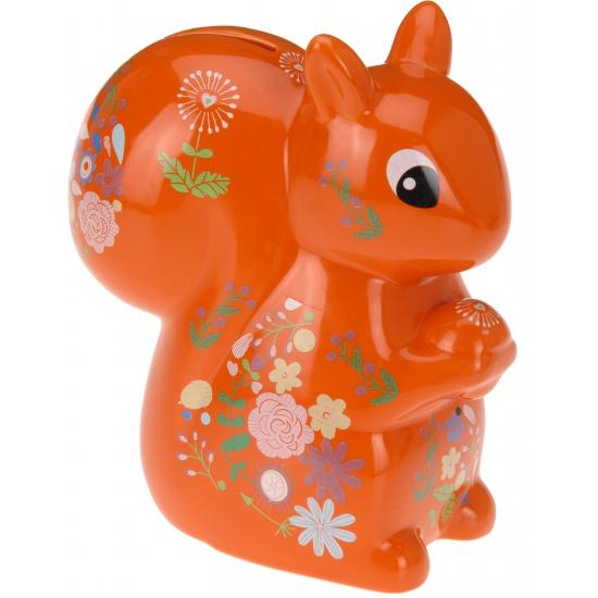 Image of Spaarpot eekhoorn met bloemen