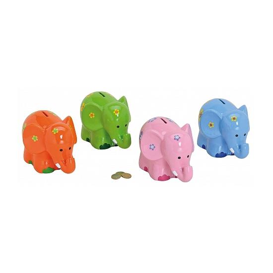 Image of Spaarpot gekleurde olifant 20 cm