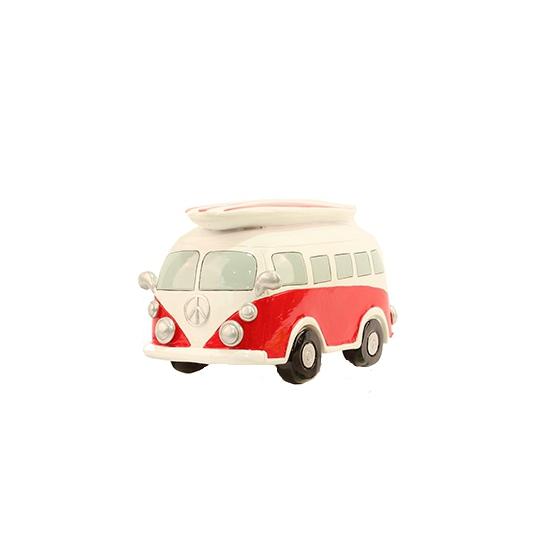 Image of Spaarpot rode Volkswagen bus