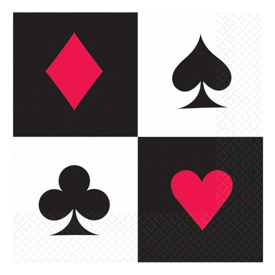 Image of Speelkaarten servetten 16x