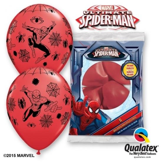 Image of Spiderman ballonnen 6 stuks