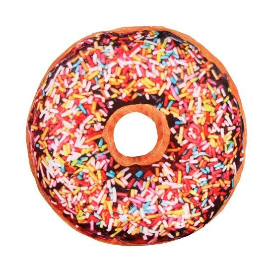 Image of Sprinkels donut kussen chocolade 40 cm
