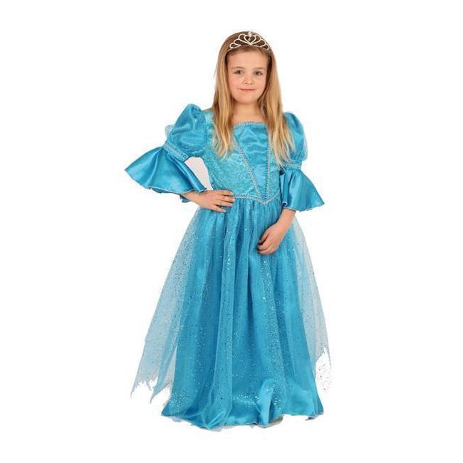 Image of Sprookjes prinses blauwe jurk voor meisjes