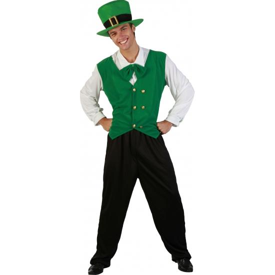 Sint patricks day kostuum. een voordelig groen sint patricks day kostuum. inclusief: hoed, broekpak en strik. ...