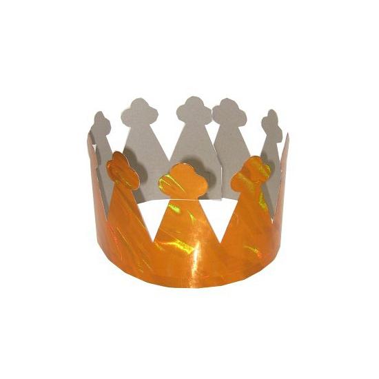 Staniol kroontjes metallic oranje