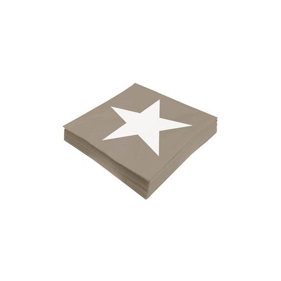 Image of Ster servetten beige 20 stuks