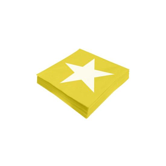 Image of Ster servetten geel 20 stuks