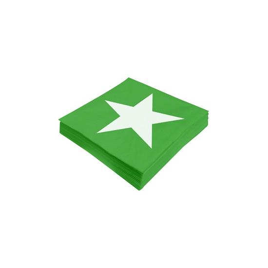 Image of Ster servetten groen 20 stuks