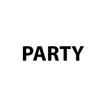Image of Sticker met tekst Party