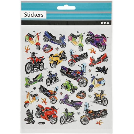 Image of Stickervel jongens motoren