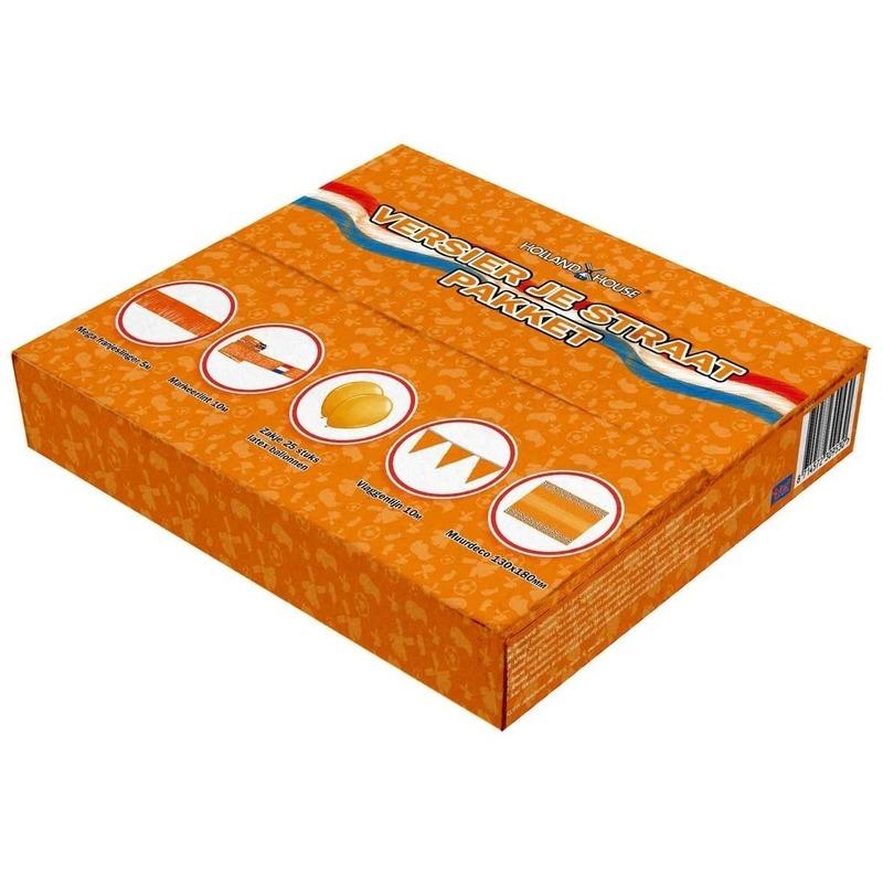 Image of Straat box met oranje versiering