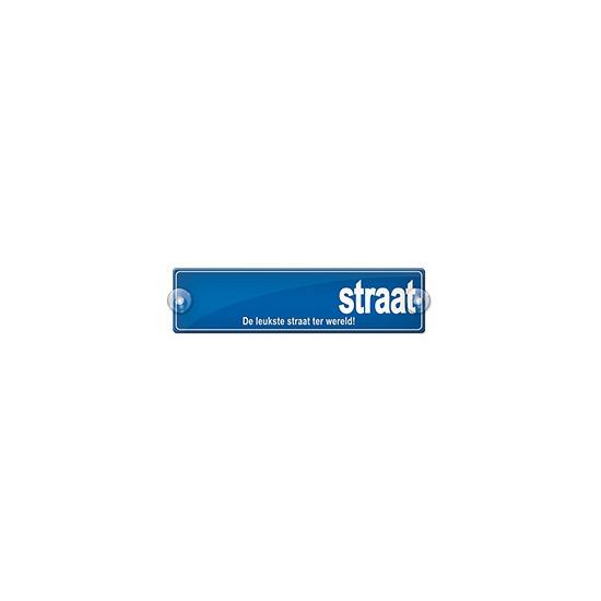 Image of Straatbord de leukste straat