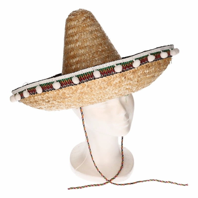 Image of Stro sombrero 40 cm voor volwassenen