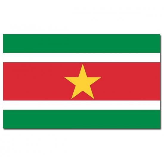 Image of Suriname vlaggen 90 x150 cm