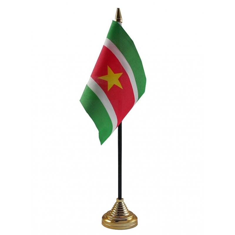 Image of Suriname vlaggetje voor op tafel