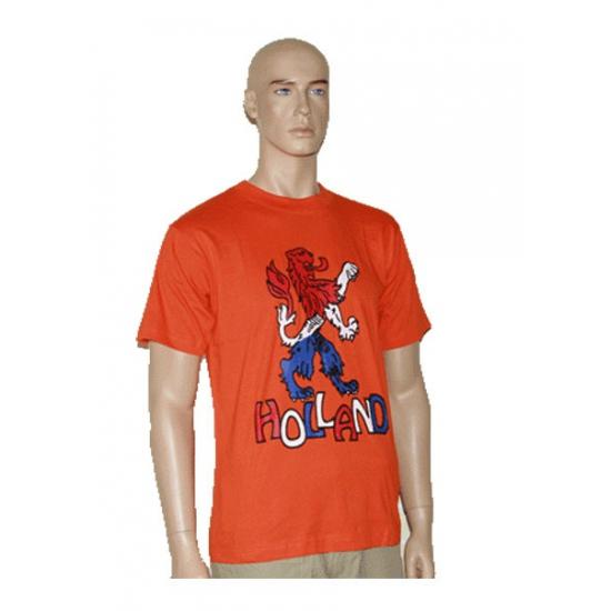 T shirt met Hollandse leeuw oranje