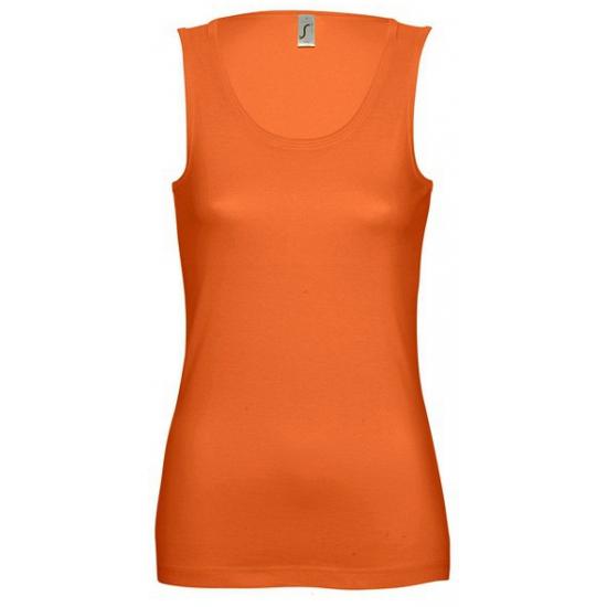 Tanktop oranje voor dames