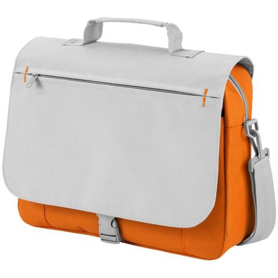 Image of Tas voor naar je werk grijs/oranje