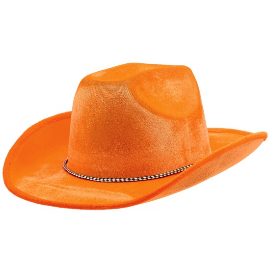 Thema oranje cowboyhoed