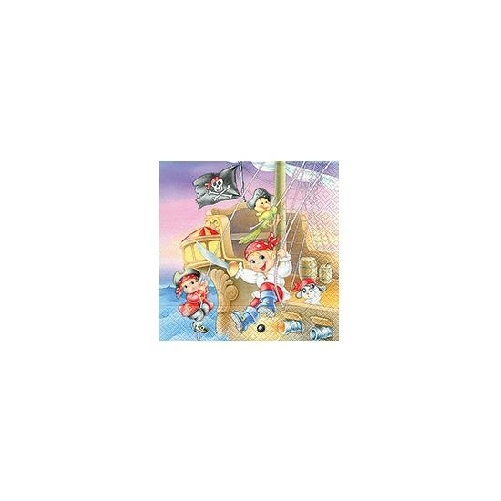 Servetten piraten kinderen 20 stuks. feestelijke servetjes bedrukt met de plaatjes van kinder piraten. ...