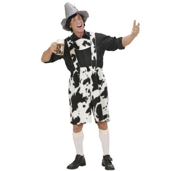 Tirolerbroek met koeienprint heren