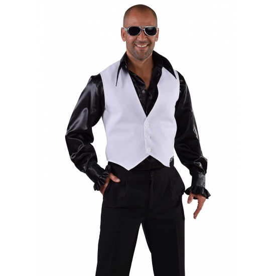 Image of Toppers Disco gilet wit voor heren
