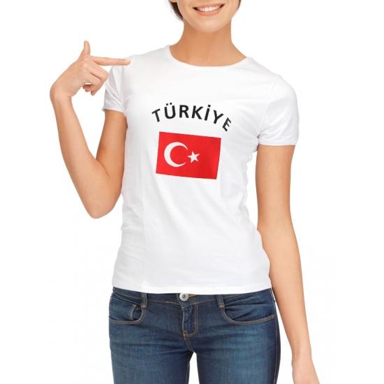Image of Turkije t-shirt met Turkse vlag print voor dames
