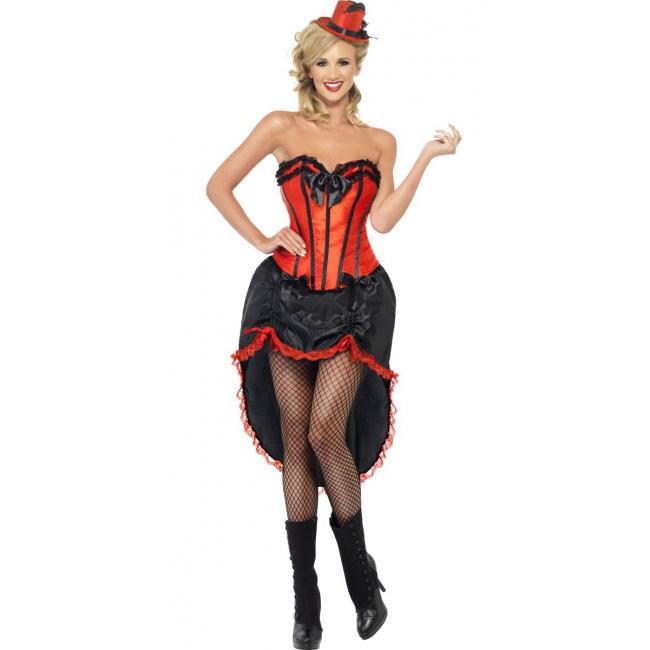 Image of Twenties burlesque jurk rood