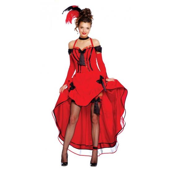 Twenties burlesque jurk rood