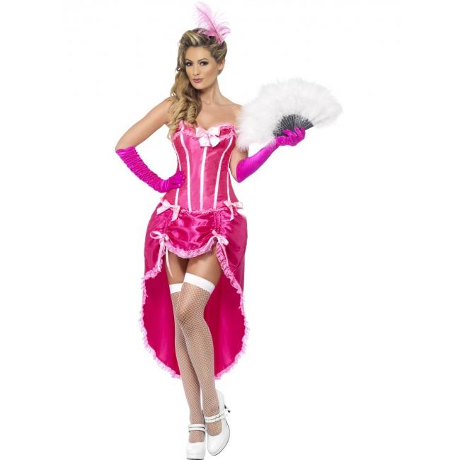 Image of Twenties burlesque jurk roze