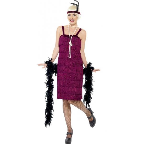 Image of Twenties jurkje donkerrood voor dames