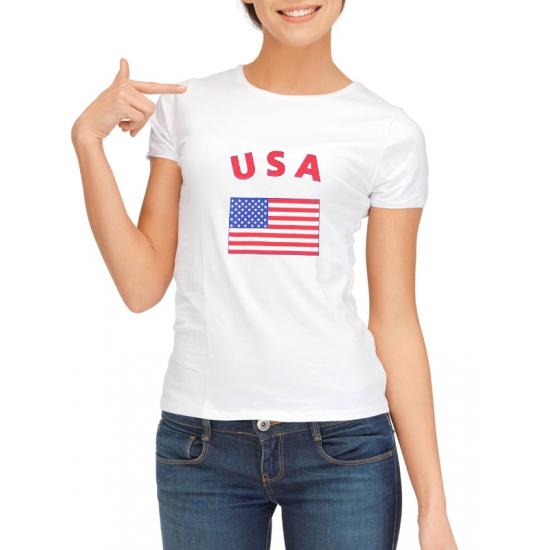 Image of USA t-shirt met USA vlag print voor dames