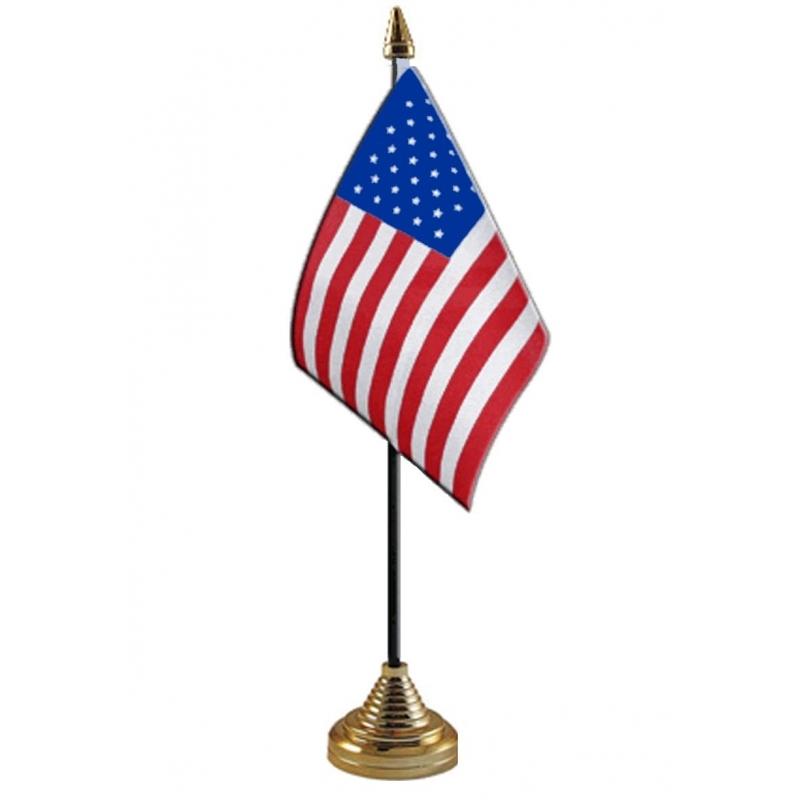 Image of USA vlaggetje voor op tafel