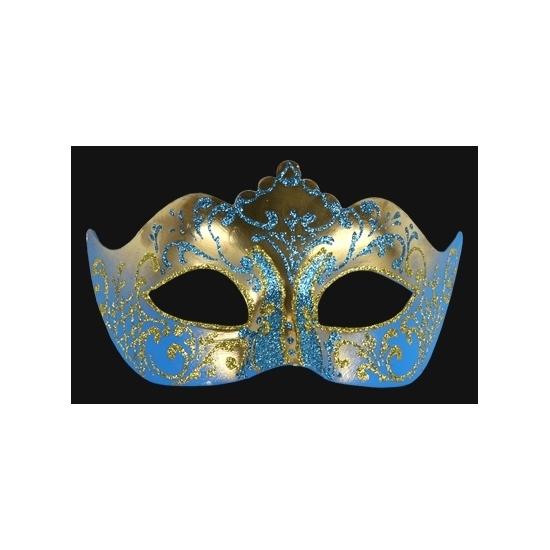 Image of Venetiaans barok oogmasker blauw