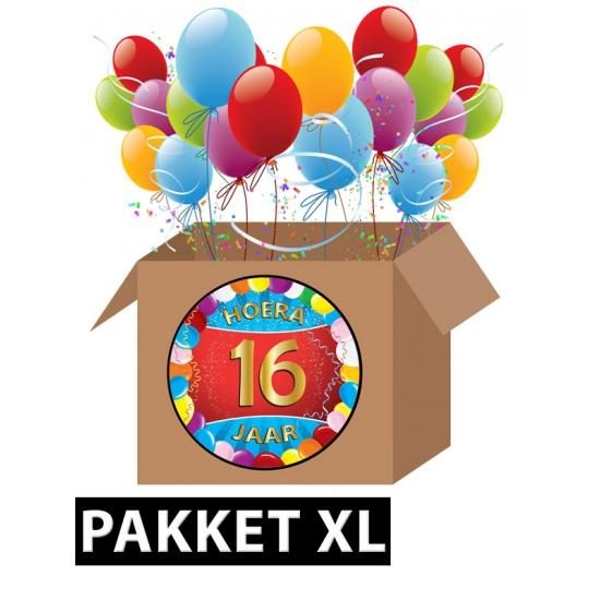 Verjaardag 16 jaar pakket XL