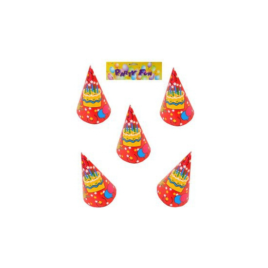 Image of Verjaardag feesthoedjes 6 stuks