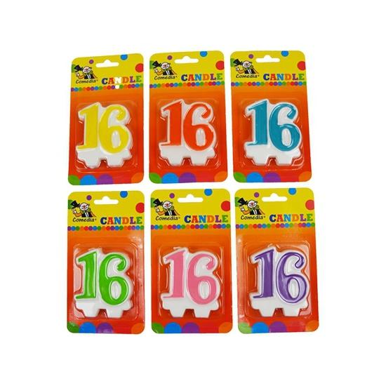 Image of Verjaardags kaars cijfer 16