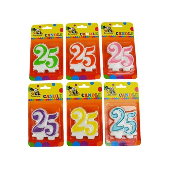 Image of Verjaardags kaars cijfer 25