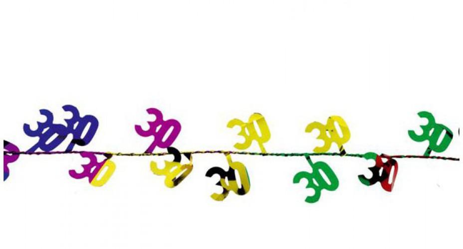 Image of Verjaardags slinger 30 jaar 270 cm