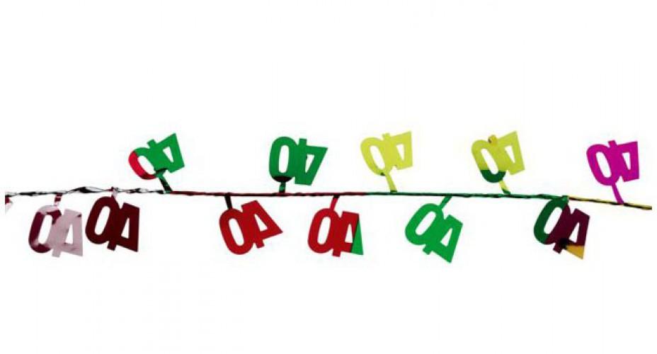 Image of Verjaardags slinger 40 jaar 270 cm
