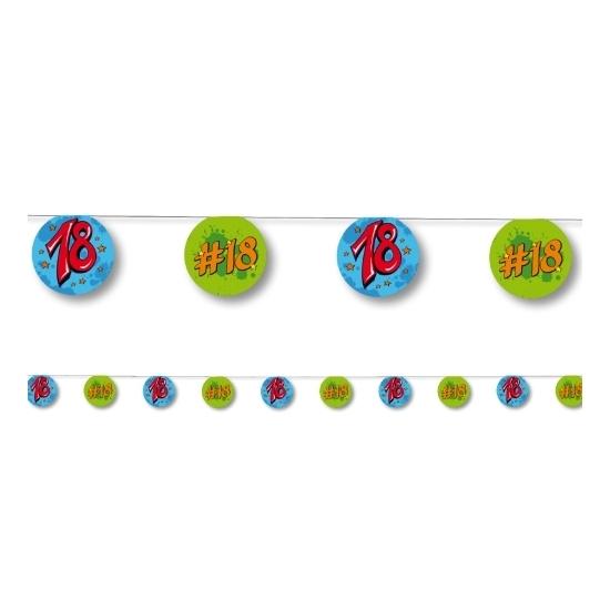 Image of Verjaardags versiering 18 jaar blauw/groen