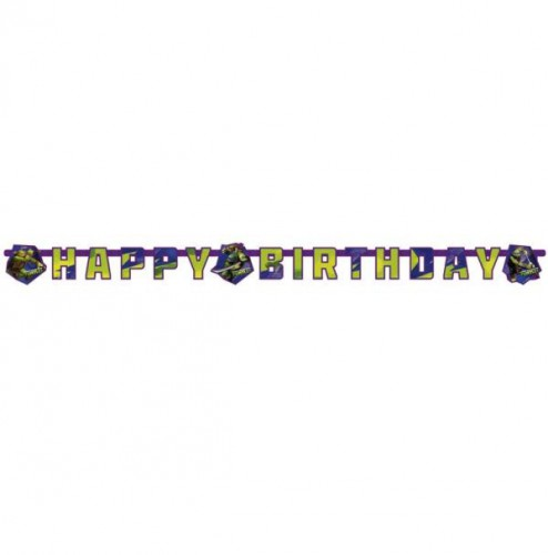 Image of Verjaardagspartijtje Ninja Turtles slinger