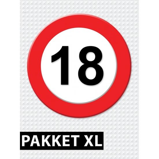 Verkeersbord 18 jaar versiering pakket XL