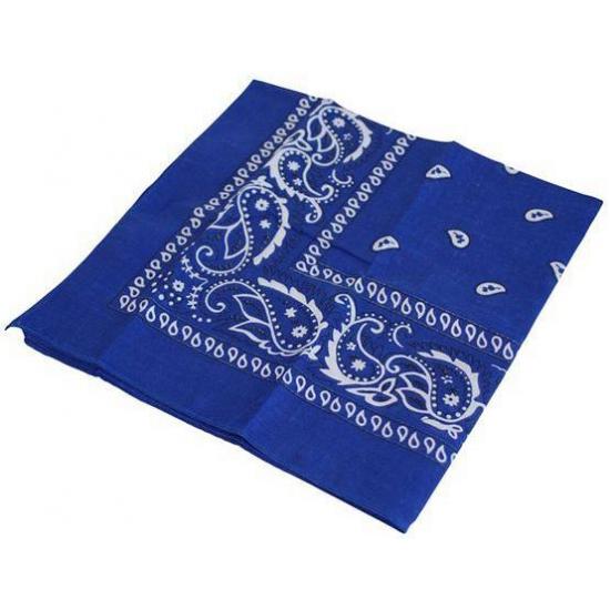 Image of Verkleed boerenzakdoek blauw
