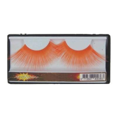 Verkleedaccessoires oranje wimpers