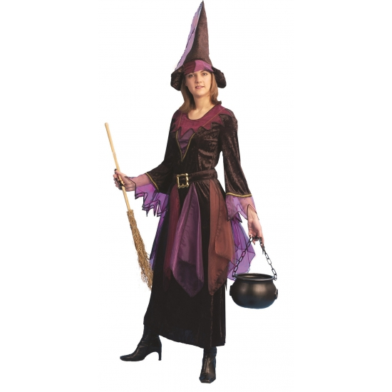 Image of Verkleedkleding heks inclusief hoed