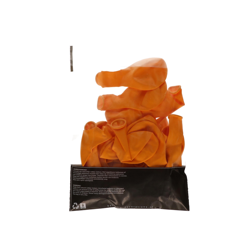 Versierings ballonnen oranje 100st