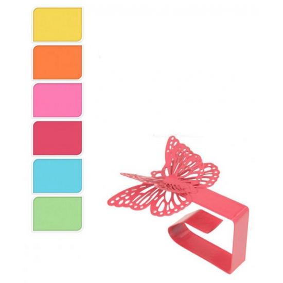 Image of Vier ijzeren vlinders tafelkleedklemmen