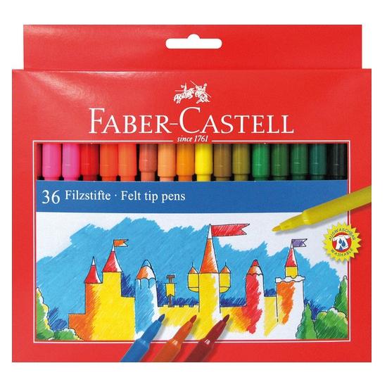 Image of Viltstiften gekleurd 36 stuks